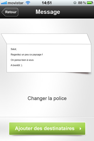 modifier police iphone