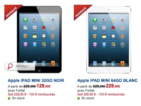 l 39 ipad mini partir de 49 90 chez sfr igeneration. Black Bedroom Furniture Sets. Home Design Ideas