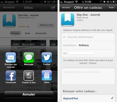 Offrir app
