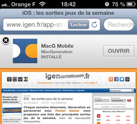 iOS 6 1 : le bug des Smart App Banners est réglé | iGeneration
