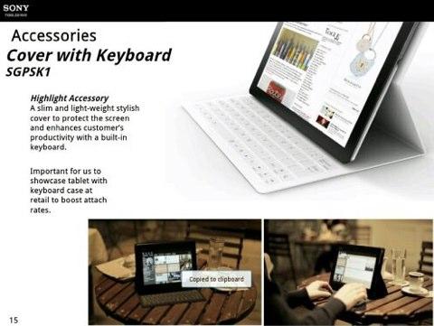 Sony prépare une tablette intégrant un clvier
