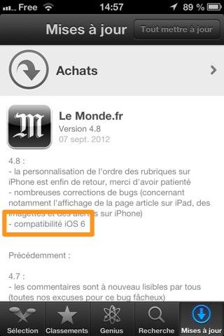 Le Monde iOS 6