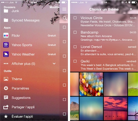 how to change name on yahoo mail app