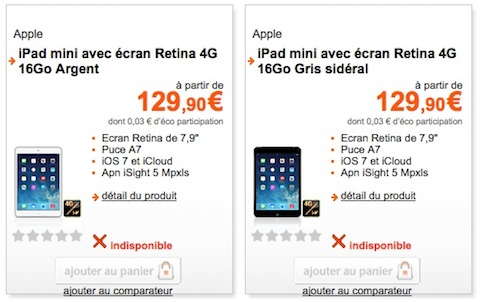 l ipad mini retina d barque chez orange et. Black Bedroom Furniture Sets. Home Design Ideas