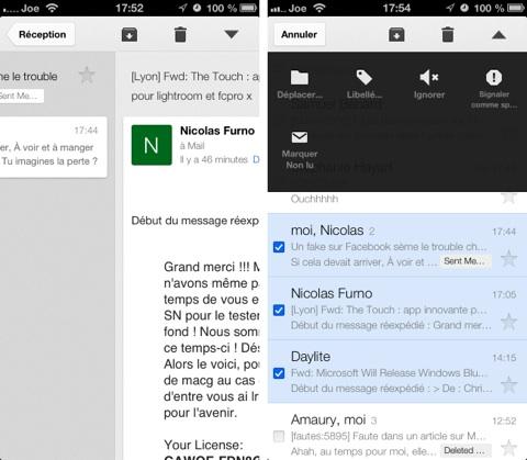 Gmail pour iOS : de nouveaux gestes et un mode édition revu