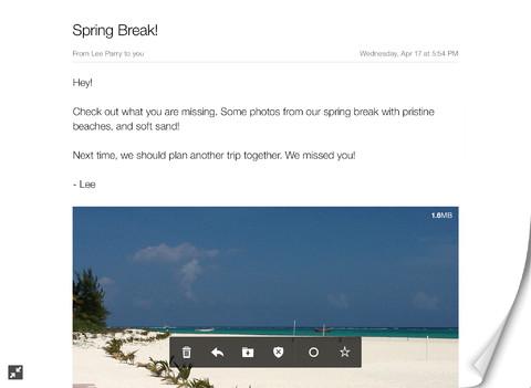 Yahoo mail s adapte à l ipad igeneration
