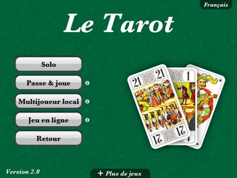 Ajoutons que le mode local avec un seul appareil est bizarrement limité à  deux joueurs réels, au moins pour Tarot (à 3, 4 ou 5). 31a6b676991a