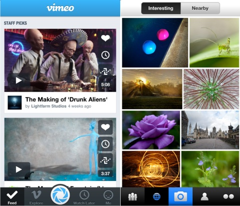 iOS 7 : une intégration de Flickr et de Vimeo ?