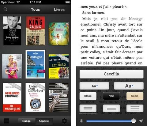 L'application Kindle améliore son confort de lecture