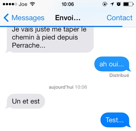 envoyer message automatique iphone