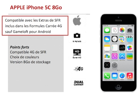 l iphone 5c 8 go annonc galement chez sfr igeneration. Black Bedroom Furniture Sets. Home Design Ideas