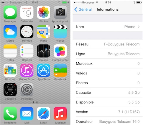augmenter memoire iphone 5c