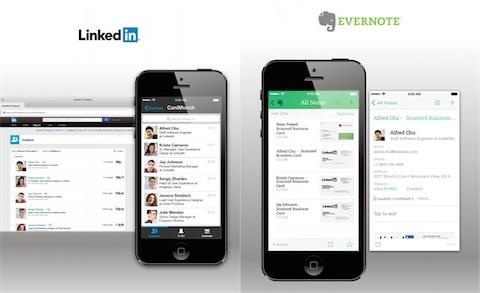 LinkedIn Fait Appel Evernote Pour Les Cartes De Visite